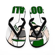 Football green Flip Flops