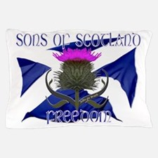 Sons of Scotland Freedom flag design Pillow Case