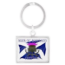 Sons of Scotland Freedom flag d Landscape Keychain