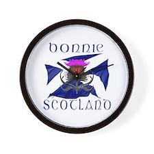 Bonnie Scotland flag design Wall Clock