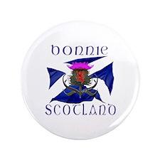 "Bonnie Scotland flag design 3.5"" Button"