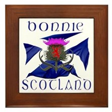 Bonnie Scotland flag design Framed Tile