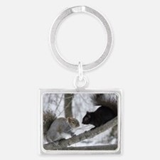 Black Squirrel Landscape Keychain