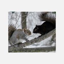 Black Squirrel Throw Blanket
