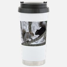 Black Squirrel Stainless Steel Travel Mug