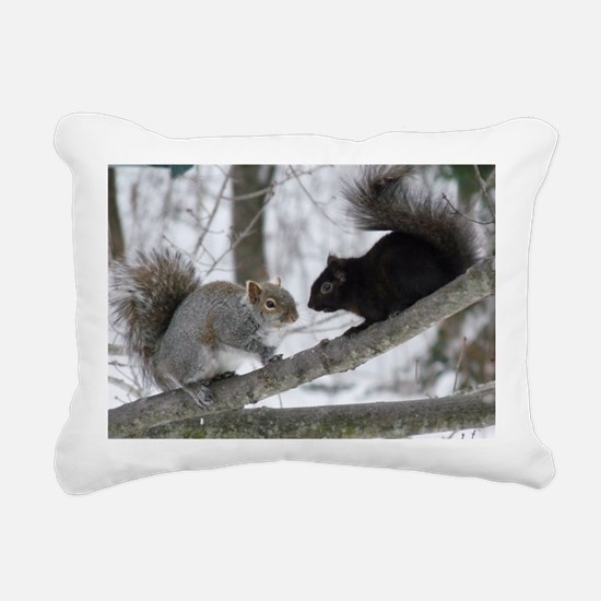 Black Squirrel Rectangular Canvas Pillow