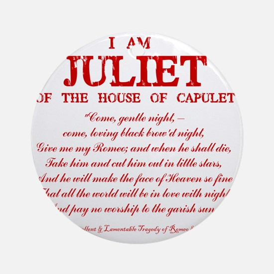 Juliet (red) Round Ornament