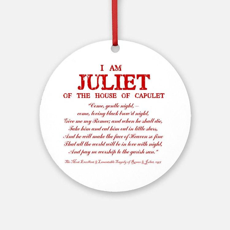 Juliet (red) Round Ornament