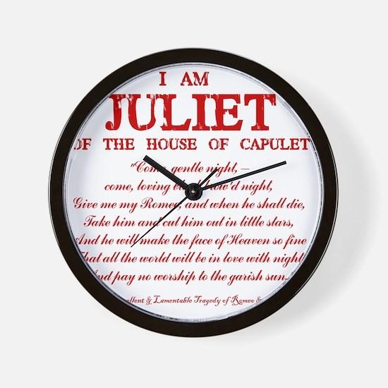 Juliet (red) Wall Clock