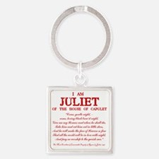 Juliet (red) Square Keychain