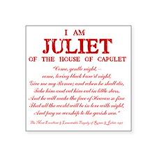 """Juliet (red) Square Sticker 3"""" x 3"""""""