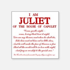 "Juliet (red) Square Sticker 3"" x 3"""