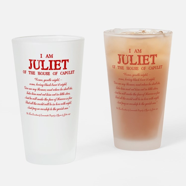 Juliet (red) Drinking Glass