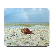 Sanibel Seashells Under The Rainbow Mousepad