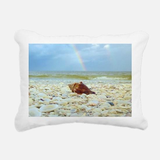 Sanibel Seashells Under  Rectangular Canvas Pillow
