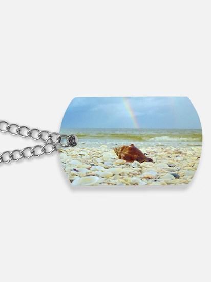 Sanibel Seashells Under The Rainbow Dog Tags