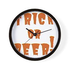 Trick or Beer! Wall Clock