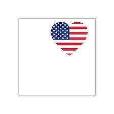 """i love boston(blk) B Square Sticker 3"""" x 3"""""""