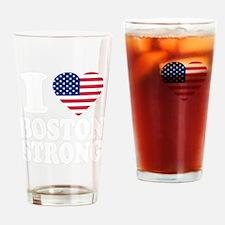 i love boston(blk) B Drinking Glass