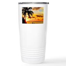 Watching Sunset Over Sa Travel Mug