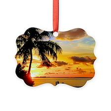 Watching Sunset Over Sanibel Isla Ornament