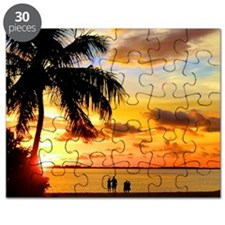 Watching Sunset Over Sanibel Island Puzzle