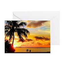 Watching Sunset Over Sanibel Island Greeting Card