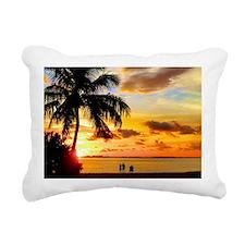 Watching Sunset Over San Rectangular Canvas Pillow