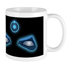 Dr. Manhattan Watchmen Neon Eyes Black Mug