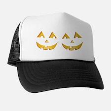 Twin Jack O Lantern Trucker Hat