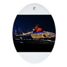 Santas Hot Sleigh Ornament (Oval)