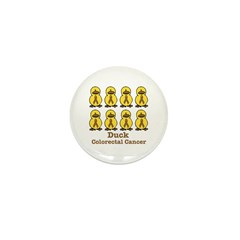 Colorectal Cancer Awareness Ribbons Mini Button (1