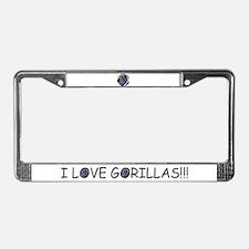 Helaine's Proud Gorrila License Plate Frame