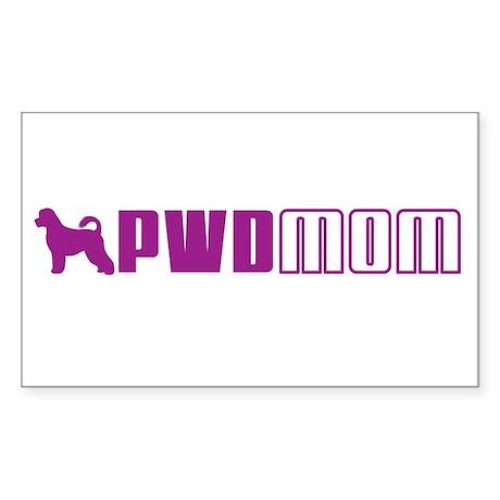 PWD Mom 2 Rectangle Sticker