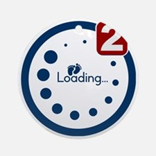 Baby Loading , Twin Notification Round Ornament