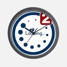 Baby Loading , Twin Notification Wall Clock
