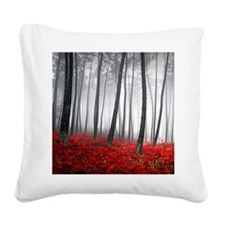 Winter Forest Square Canvas Pillow