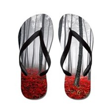 Winter Forest Flip Flops