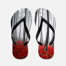 Winter Forest Flip Flops