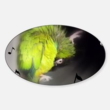 nanday conure dancing Sticker (Oval)