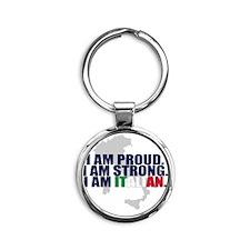 Proud italian Round Keychain