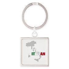 Proud Italian Square Keychain