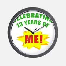 Celebrating Me! 13th Birthday Wall Clock