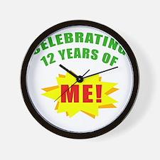 Celebrating Me! 12th Birthday Wall Clock