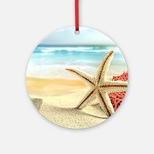 Summer Beach Round Ornament