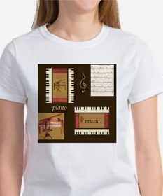 Piano Music Song Clef Tee
