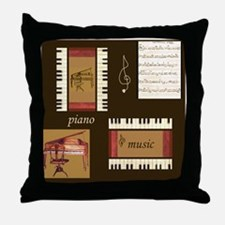 Piano Music Song Clef Throw Pillow