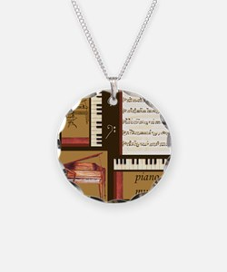 Piano Keys Music Song Clef Necklace