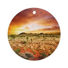 Australian Sunset Round Ornament