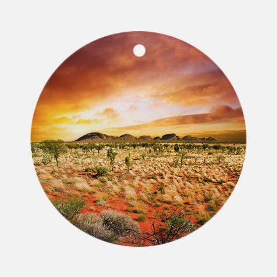 Australian Sunset Round Ornament